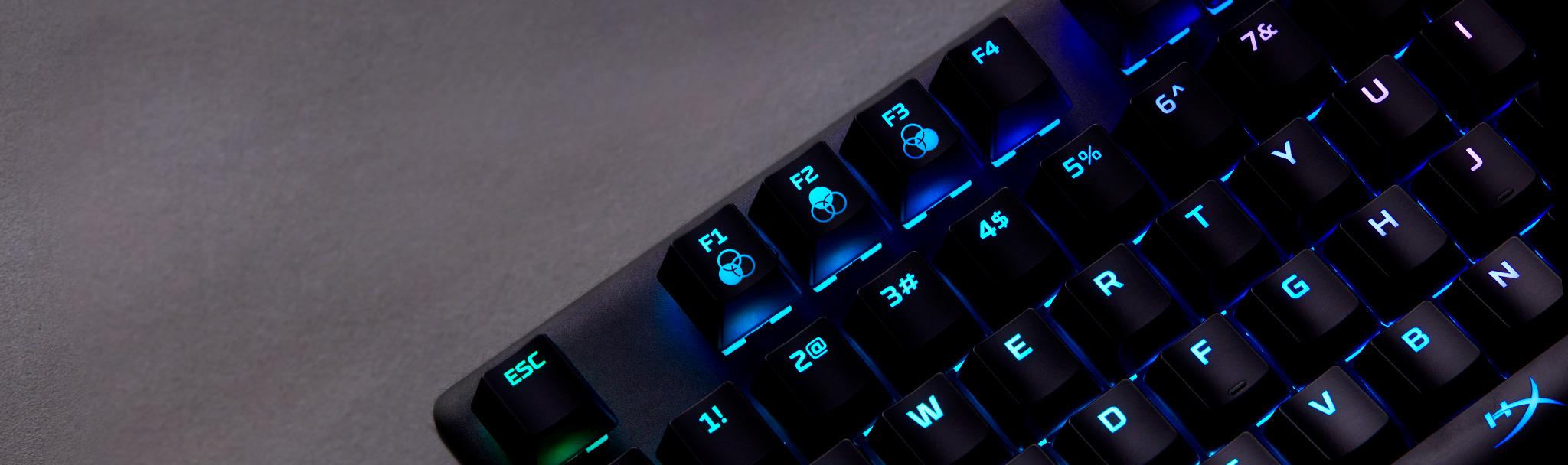 Bàn phím cơ Kingston HyperX Alloy Origins (USB/Led RGB/Aqua Switch/Black) (HX-KB6AQX-US) có thể lưu trữ 3 profile