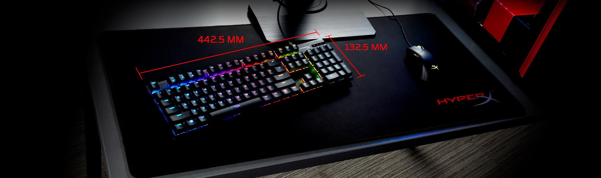 Bàn phím cơ Kingston HyperX Alloy Origins (USB/Led RGB/Aqua Switch/Black) (HX-KB6AQX-US) có kích cỡ gọn gàng