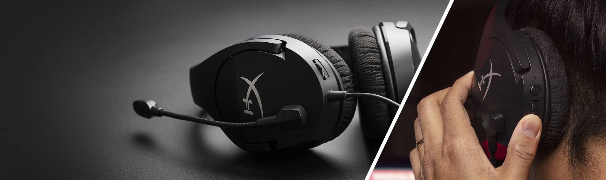 Tai nghe Kingston HyperX CLOUD STINGER CORE 7.1 Black - HHSS1C-AA-BK/G tích hợp nút chỉnh âm thuận tiện