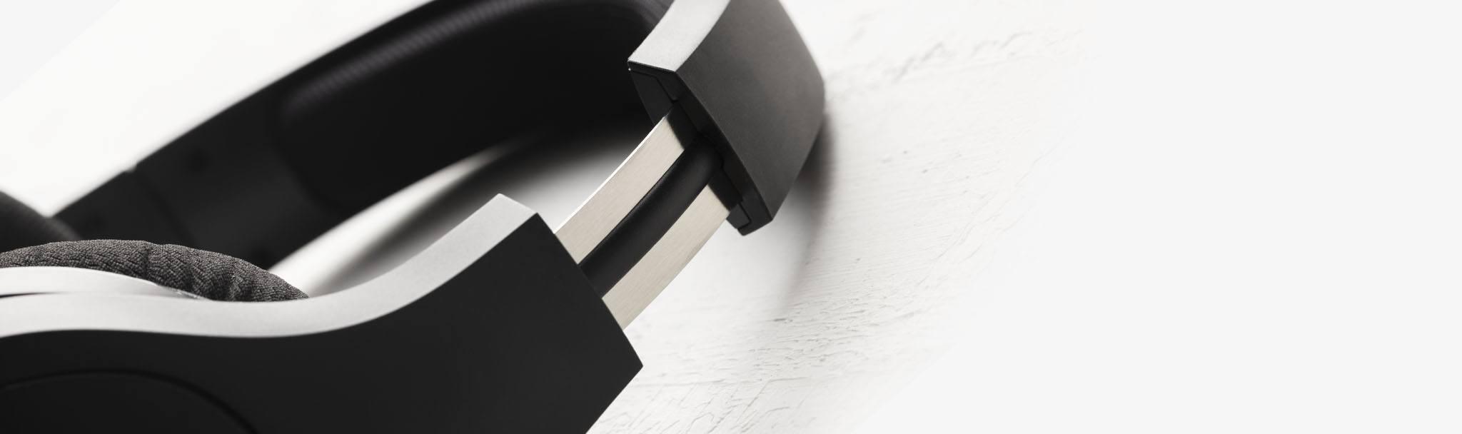Thanh trượt của Tai nghe Kingston HyperX CLOUD STINGER CORE 7.1 WIRELESS Black - HHSS1C-BA-BK/G có thể điều chỉnh dễ dàng