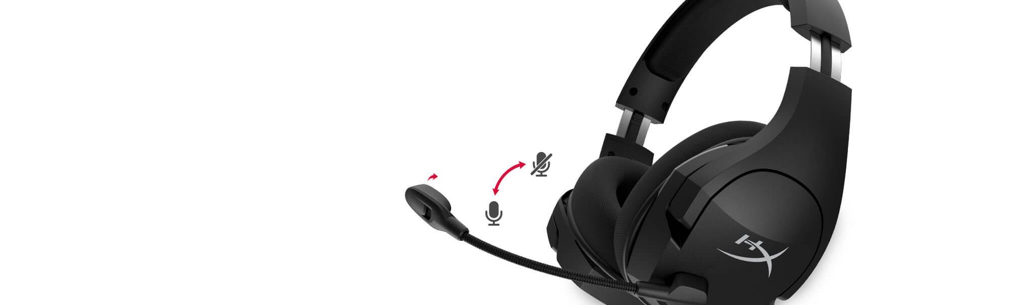 Tai nghe Kingston HyperX CLOUD STINGER CORE 7.1 WIRELESS Black - HHSS1C-BA-BK/G trang bị mic khử tiếng ồn hiệu quả