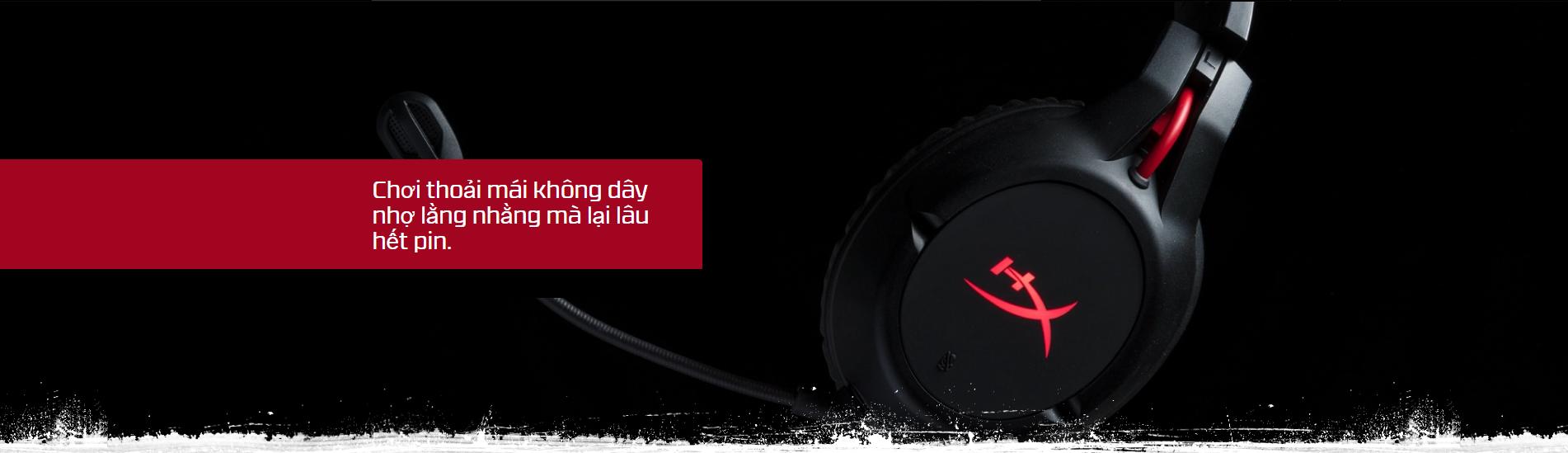 Giới thiệu Tai nghe Kingston HyperX CLOUD FLIGHT WIRELESS Black - HX-HSCF-BK/AM