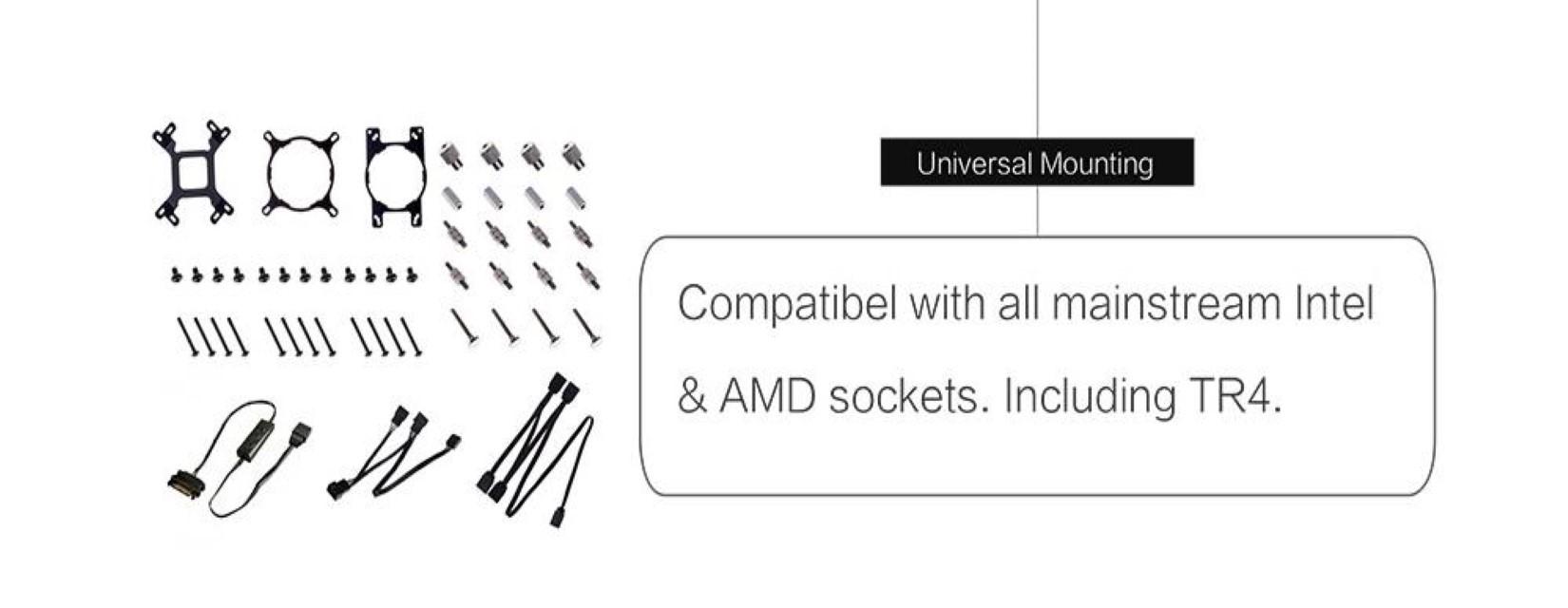 Tản Nhiệt Nước ID-COOLING ZOOMFLOW 360X ARGB tương thích với các socket thông dụng của Intel và AMD trên thị trường