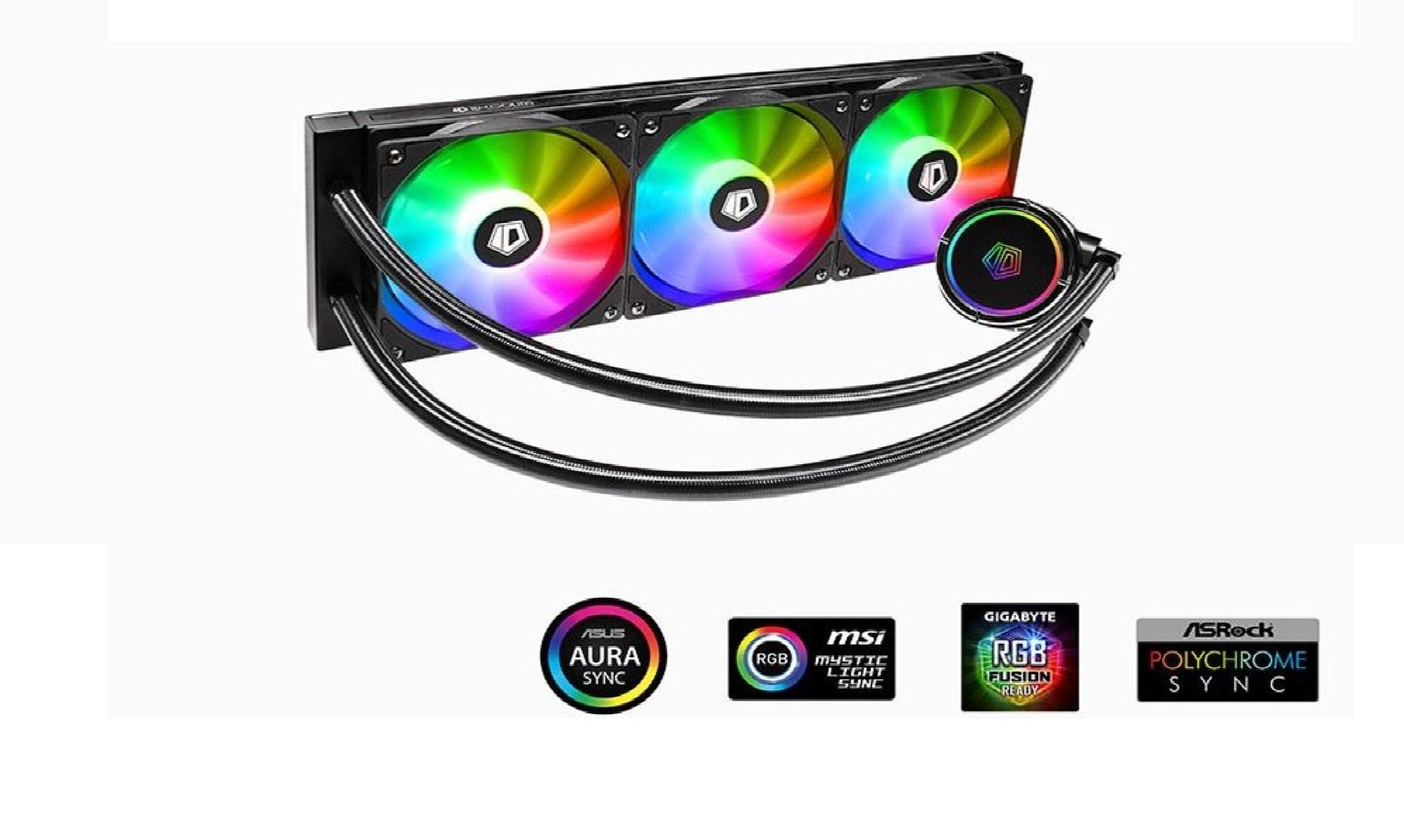 Tản Nhiệt Nước ID-COOLING ZOOMFLOW 360X ARGB trang bị đèn led ARGB trên cả phần quạt và bơm, đem lại hiệu ứng ánh sáng vô cùng bắt mắt