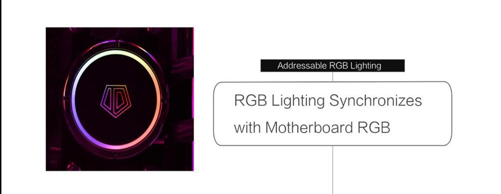 Tản Nhiệt Nước ID-COOLING ZOOMFLOW 360X ARGB với đèn ARGB có khả năng đồng bộ màu với mainboard