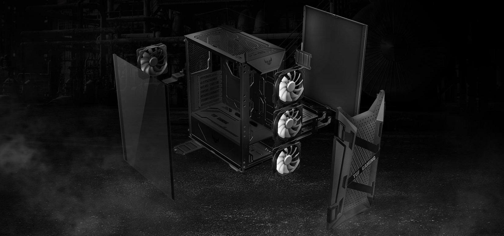 Case Asus TUF Gaming GT301 (Mid Tower/ Màu Đen/ Led ARGB) giới thiệu 6