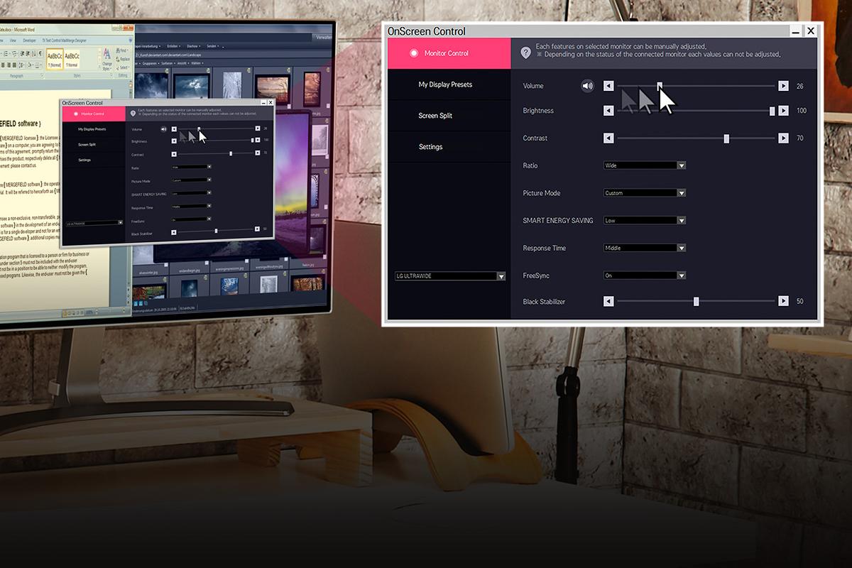 Màn hình LG 24MP88HV-S onscreen app