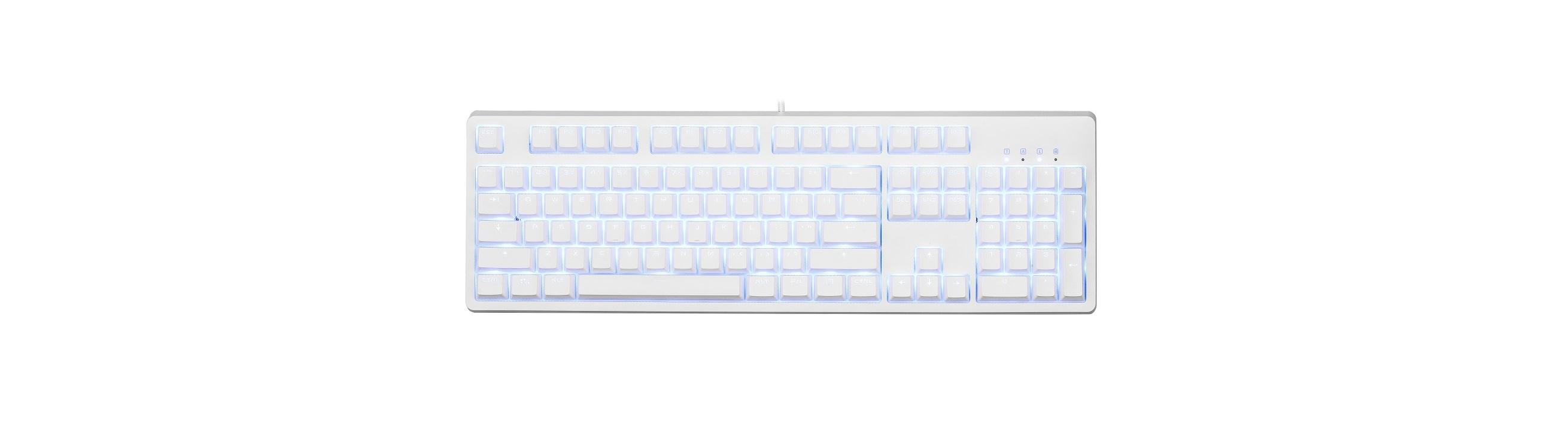 Bàn phím cơ E-Dra EK3104 Mechanical Gaming Outemu Brown switch White Case Blue Led USB có thiết kế đơn giản