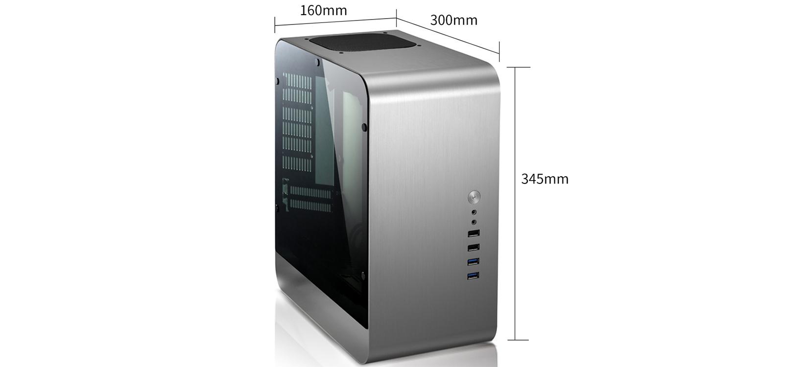 Jonsbo UMX1-PLUS Tempered Glass (Mini Tower/Màu Bạc) giới thiệu 2