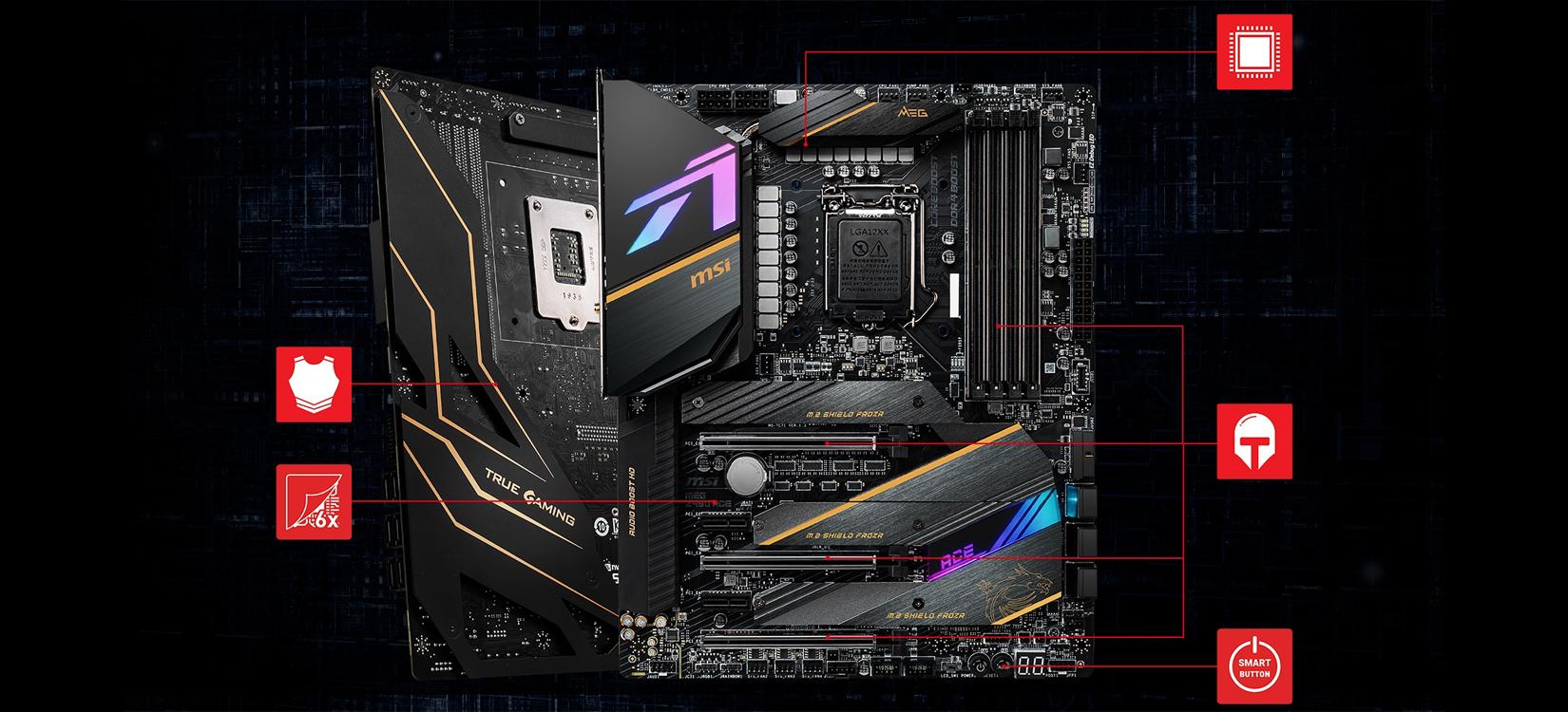 Mainboard MSI MEG Z490 ACE (Intel Z490, Socket 1200, ATX, 4 khe RAM DDR4)