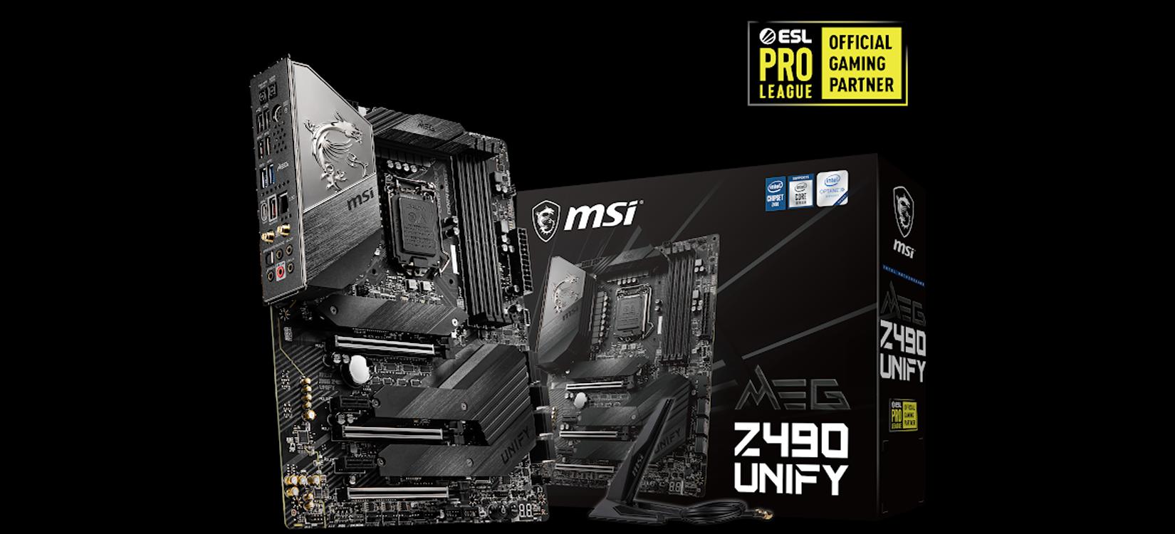 Mainboard MSI MEG Z490 UNIFY (Intel Z490, Socket 1200, ATX, 4 khe RAM DDR4)