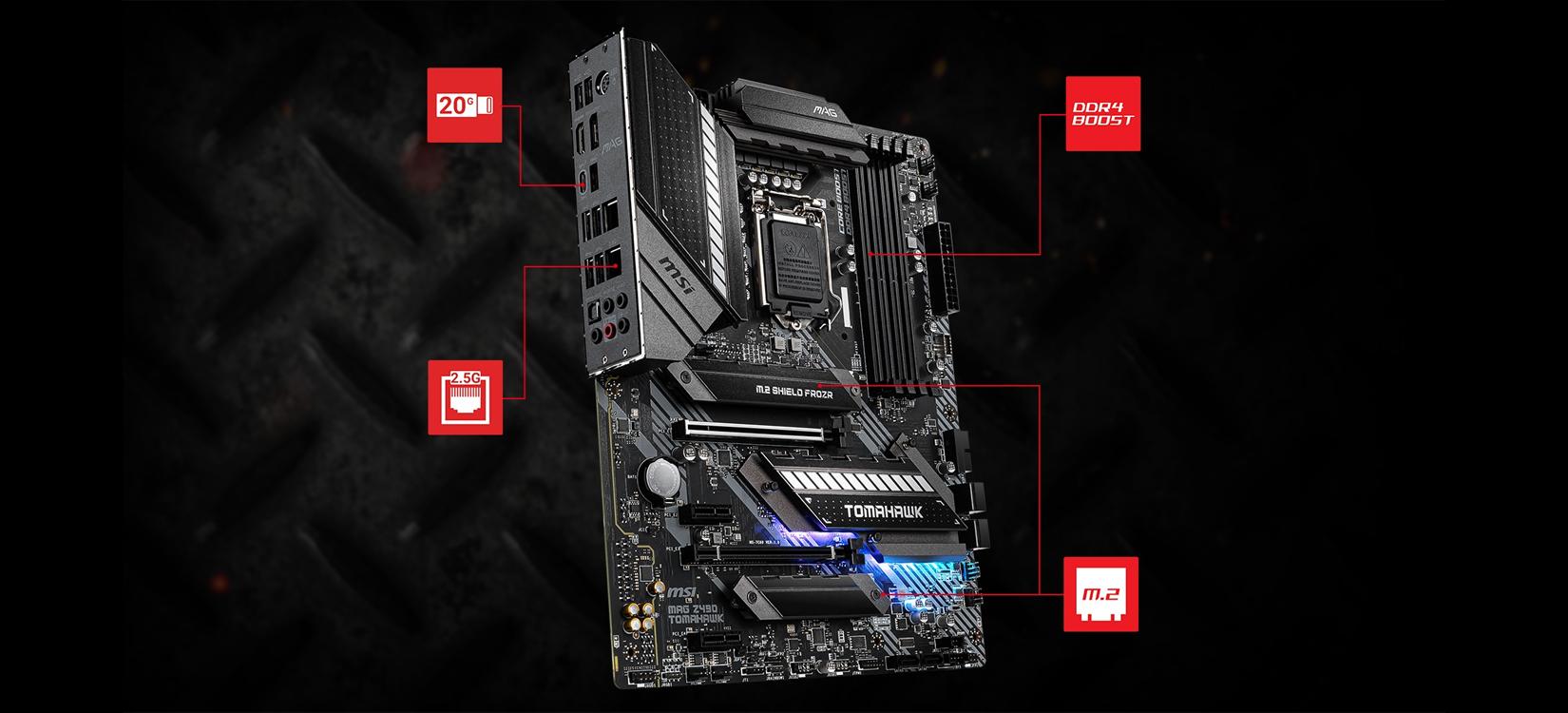 Mainboard MSI MAG Z490 TOMAHAWK (Intel Z490, Socket 1200, ATX, 4 khe RAM DDR4)