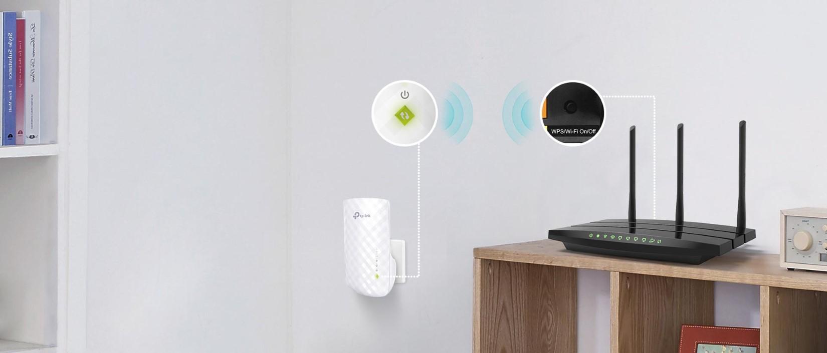 Bộ mở rộng sóng Wi-Fi TP-Link RE200 AC750 2