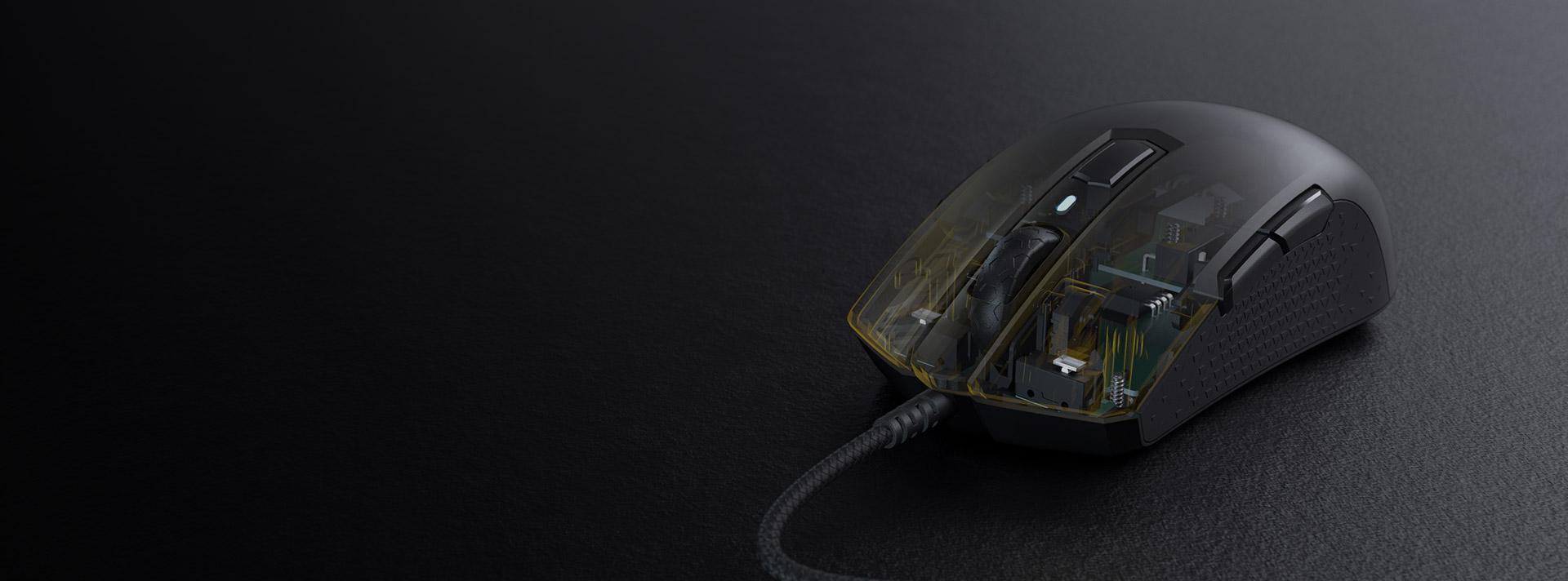 Chuột chơi game Corsair M55 RGB White (CH-9308111-AP) có kết cấu bền bỉ