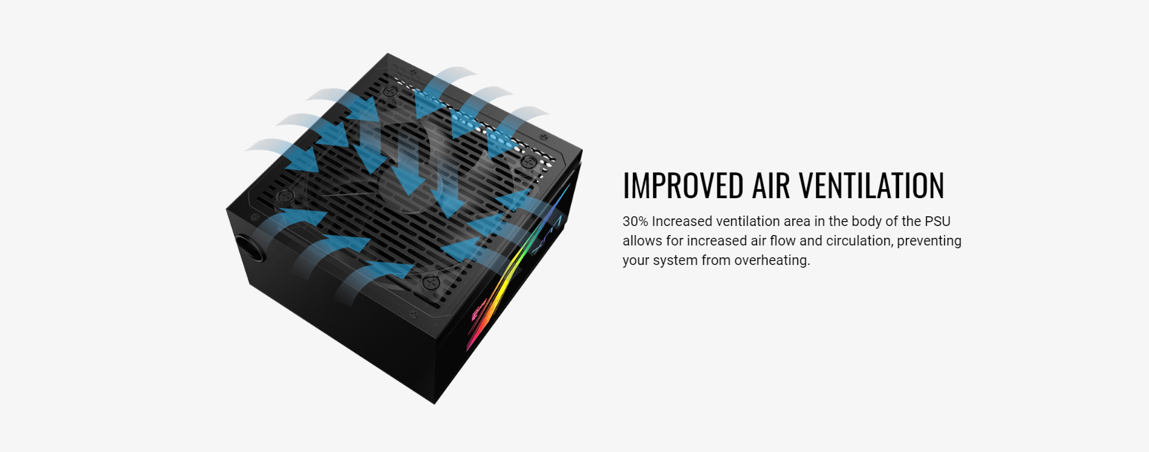 guồn Aero Cool Lux RGB 550W ( 80 Plus Bronze/Màu Đen/Led RGB) giới thiệu 2