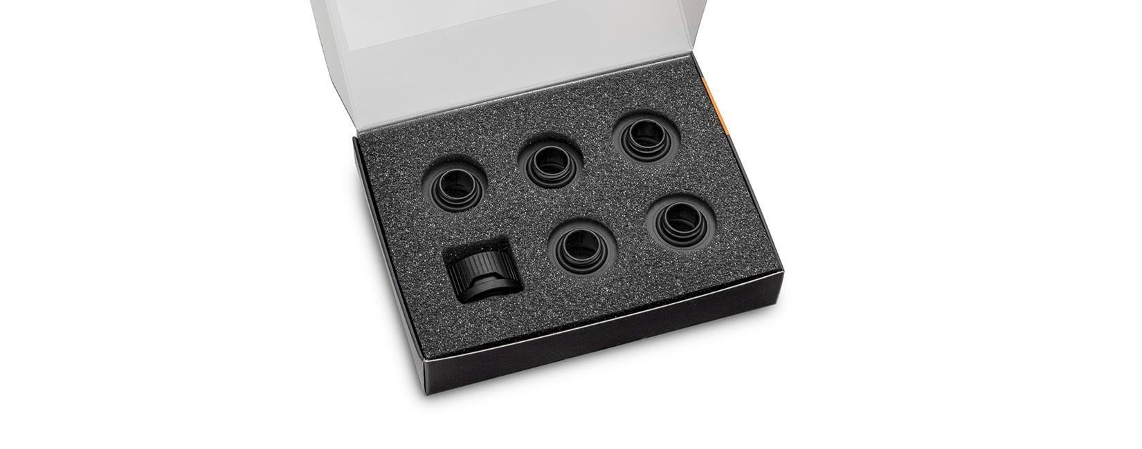 EK-Quantum Torque 6-Pack HTC 12 - Black