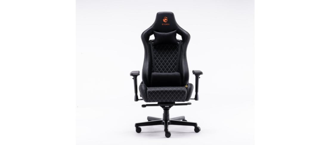Ghế Chơi Game Ultimate EGC2020 Lux màu đen - E-Dra sử dụng da bò thật