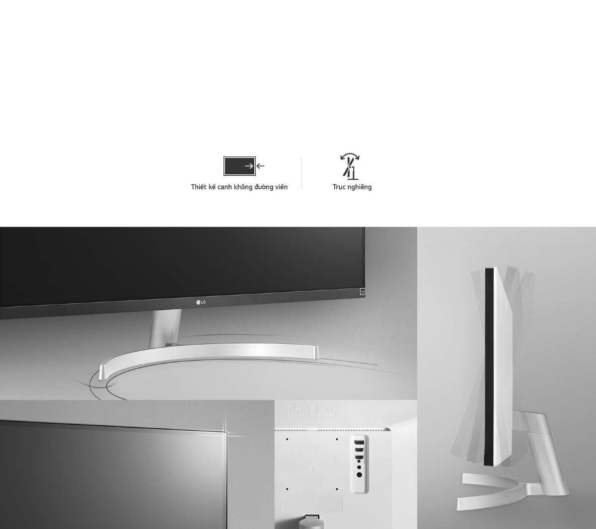 Màn hình LG 29WN600-W thiết kế thuận tiện