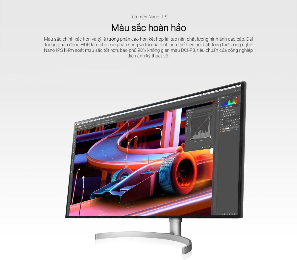 Màn hình LG 32UL950-W nano ips