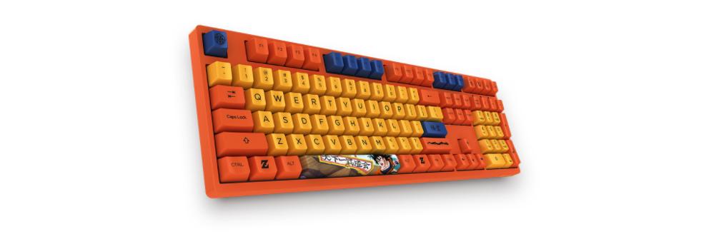 Bàn phím cơ Akko 3108 Dragon Ball Z Goku Cherry Red switch trang bị bộ keycap pbt cao cấp