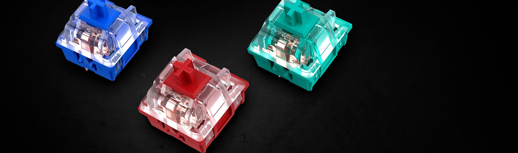 Bàn phím cơ KINGSTON HYPERX ALLOY ORIGINS Red Switch RGB (HX-KB6RDX-US) sử dụng công tác phím độc quyền của HyperX