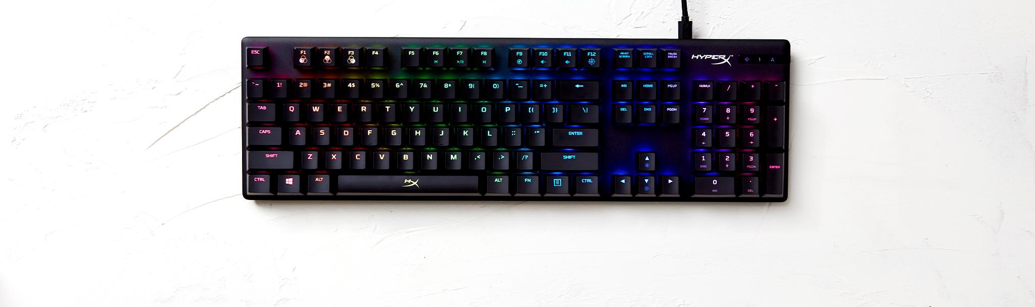 Bàn phím cơ KINGSTON HYPERX ALLOY ORIGINS Red Switch RGB (HX-KB6RDX-US) trang bị hệ thống led RGB