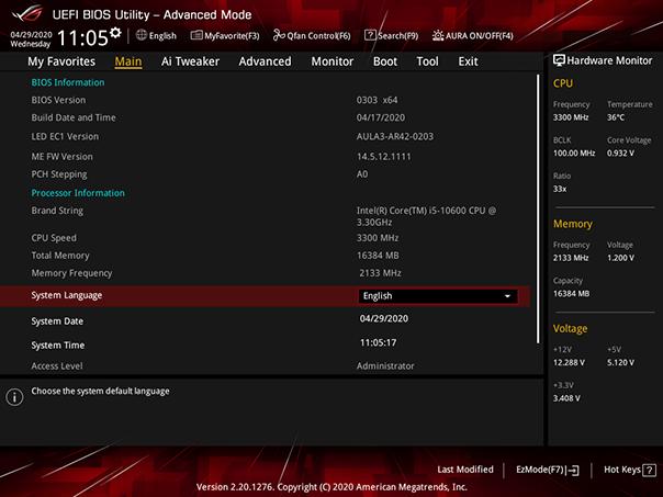 Mainboard ASUS ROG STRIX B460-G GAMING