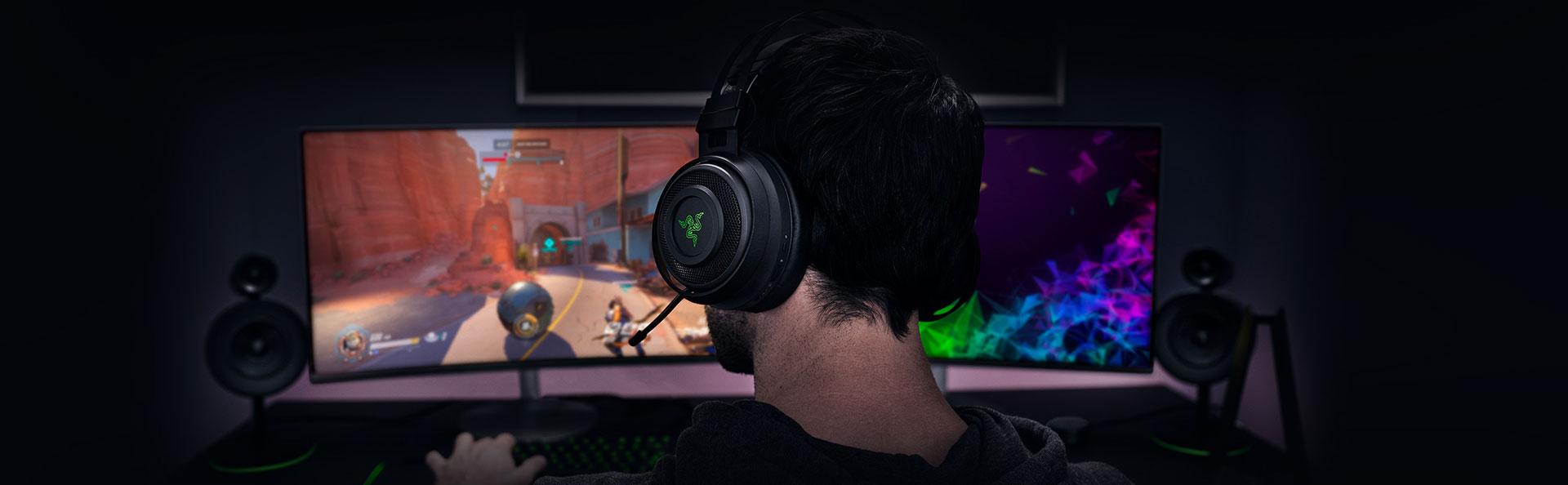 Âm thanh vòm THX của Tai nghe Razer Nari Gaming Wireless
