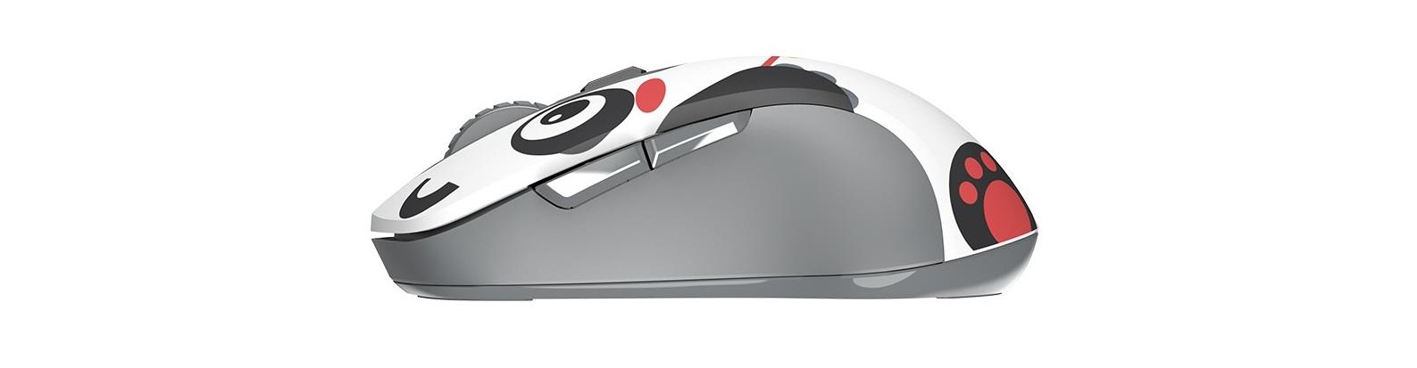 Mouse Dareu LM115G Multi Color Wireless Black Panda có kết nối wireless 2.4Ghz vô cùng tiện lợi