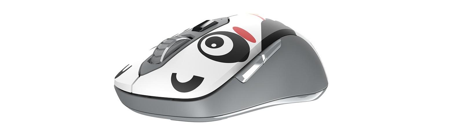 Mouse Dareu LM115G Multi Color Wireless Black Panda có thời lượng sử dụng pin dài