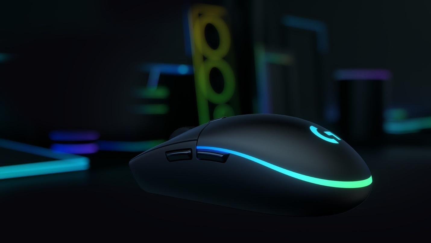Mouse Logitech G102 Lightsync RGB White có thiết kế cầm nắm thoải mái