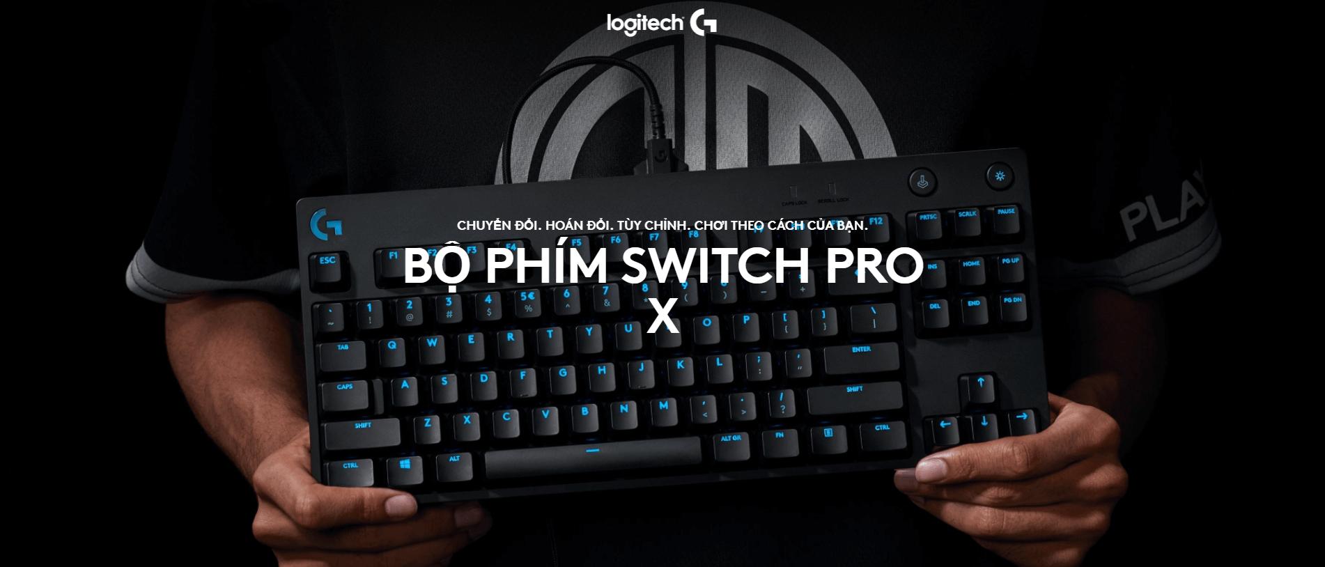 Giới thiệu Bộ switch cho G Pro X Keyboard - GX Blue Clicky RGB switch (943-000325)