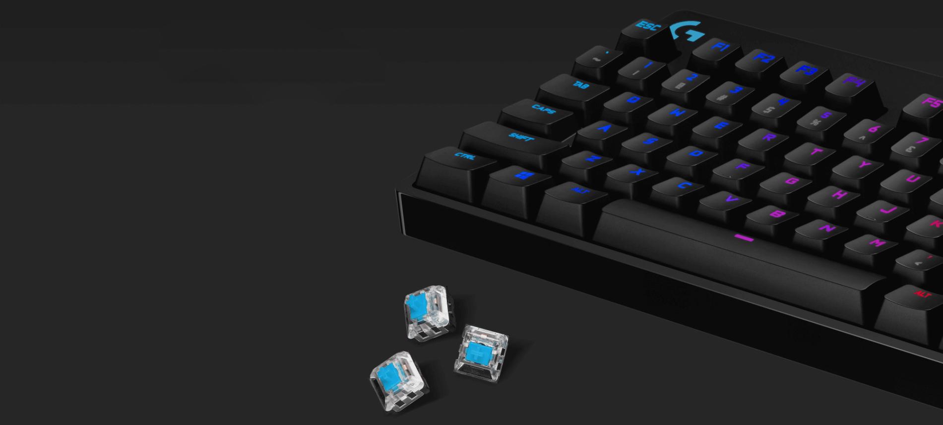 Bộ switch cho G Pro X Keyboard - GX Blue Clicky RGB switch (943-000325) có số lượng 92 nút