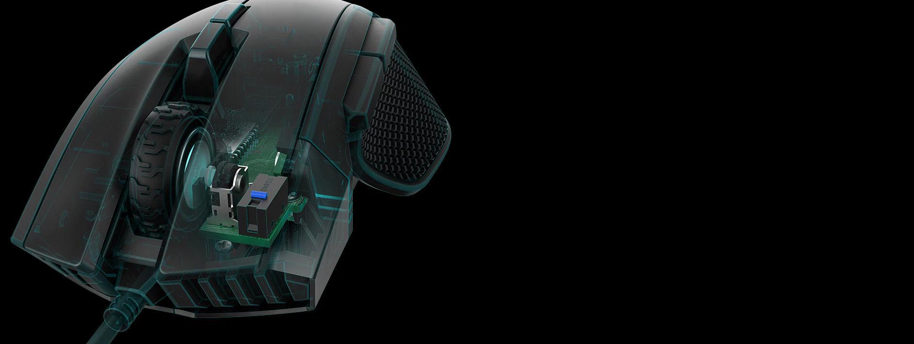 Chuột Corsair Iron claw RGB (CH-9307011-AP) sử dụng switch Omron cao cấp