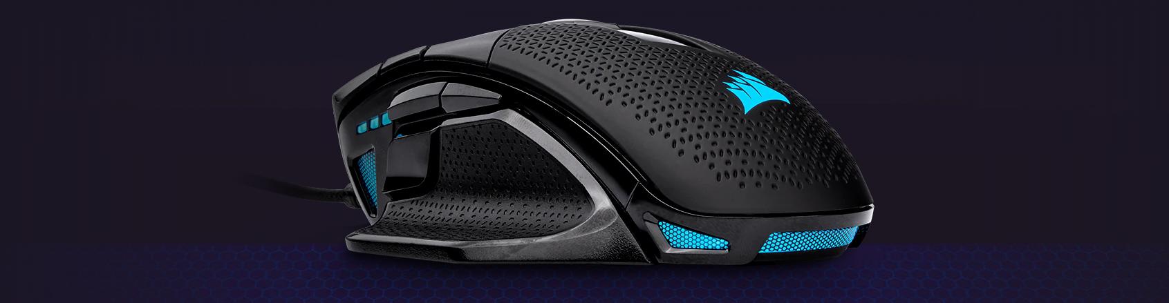Chuột Corsair Nightsword RGB (CH-9306011-AP)có thiết kế cầm nắm thoải mái