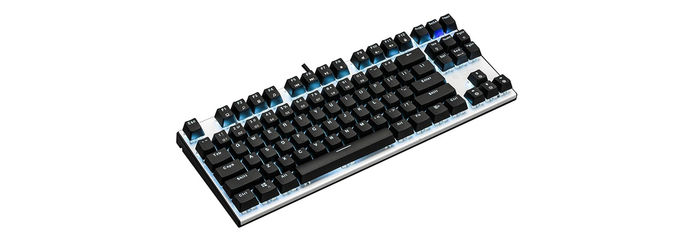 Bàn phím cơ E-Dra EK3087 (USB/Blue Led/Outemu Blue switch) trang bị led nổi bật