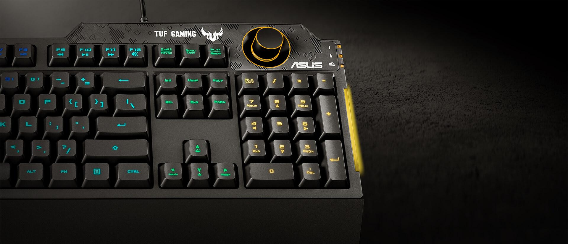 Núm chỉnh Volume của Bàn phím Gaming Asus TUF K1 RGB