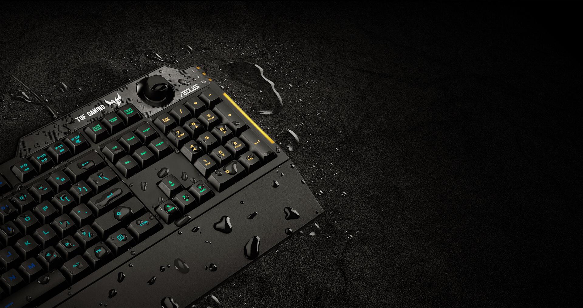 Lớp vỏ đặc biệt của Bàn phím Gaming Asus TUF K1 RGB