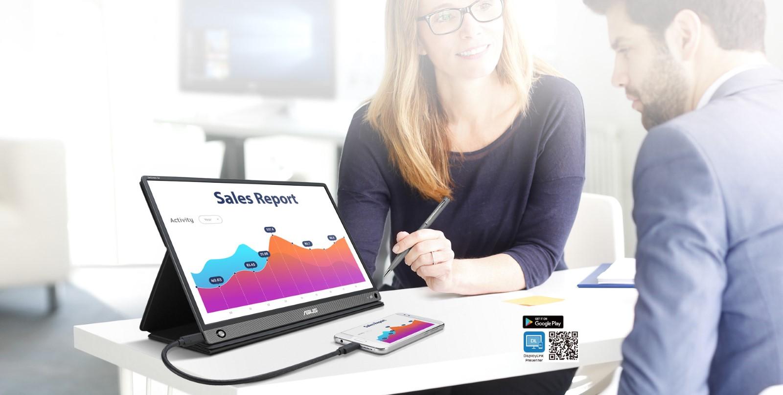 Màn hình di động Asus ZenScreen GO MB16AHP đa dạng kết nối