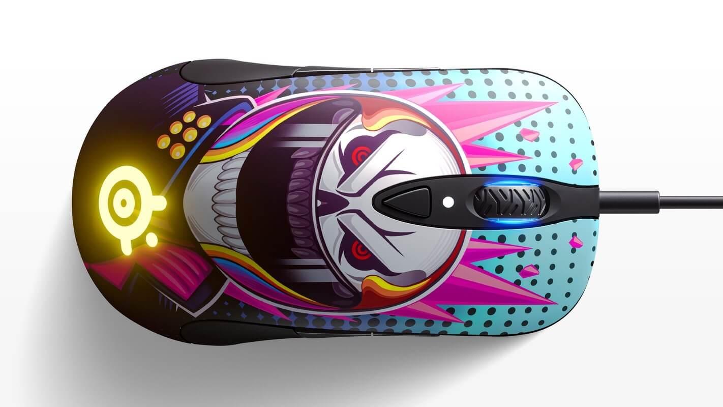 Chuột Chơi game SteelSeries Sensei Ten Neon Rider Edition (62528) (USB/RGB/NeonRider) có thiết kế đối xứng phù hợp nhiều kiểu cầm chuột