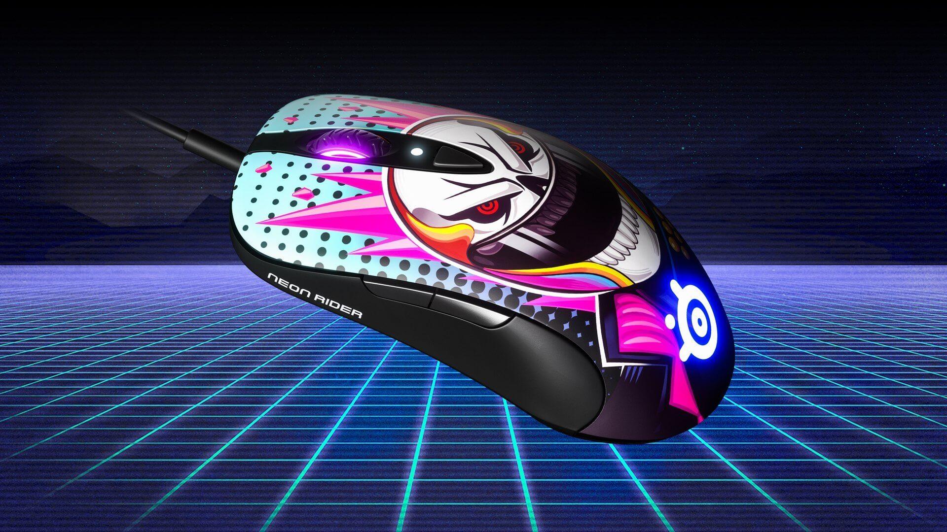 Thiết kế hoạ tiết của Chuột Chơi game SteelSeries Sensei Ten Neon Rider Edition (62528) (USB/RGB/NeonRider)