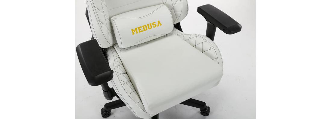 Ghế Gaming E-Dra Medusa White (EGC209) sử dụng chất liệu da PU cao cấp