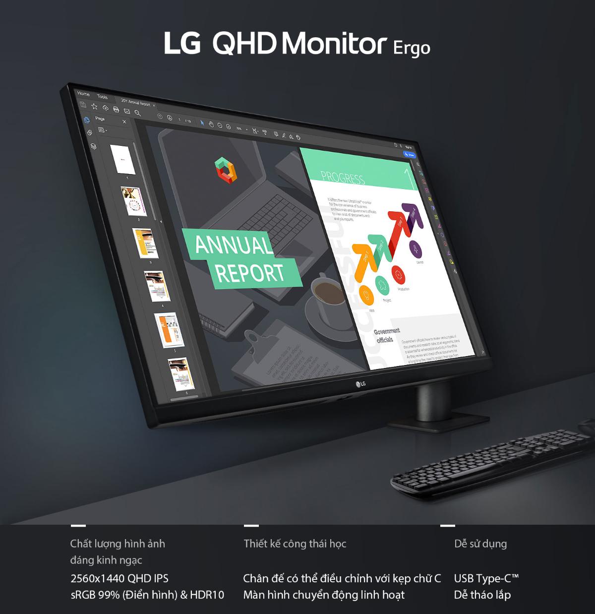 Màn hình LG 27QN880-B thiết kế đến tương lai
