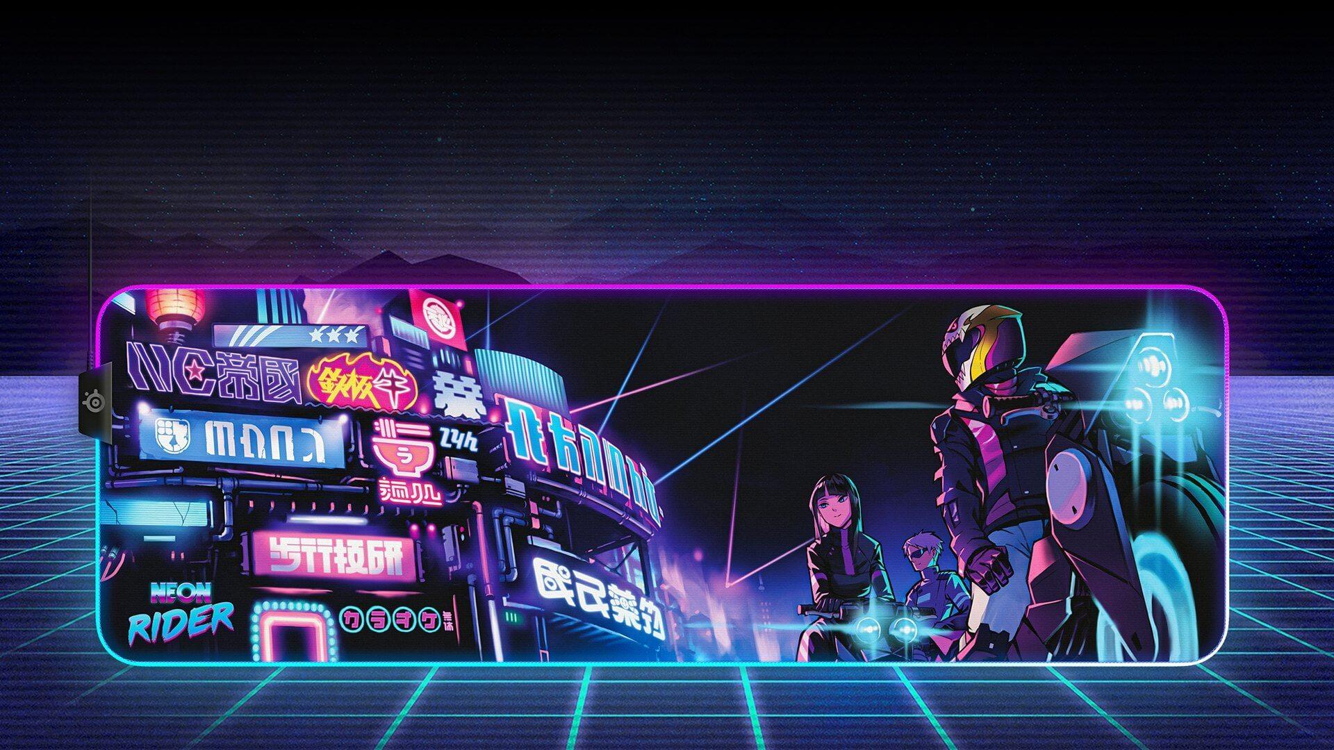 Bàn di chuột Steelseries Qck Prism(XL) Neon Rider - 63809 lấy cảm hứng từ bộ skin Neon Rider trong CS:GO