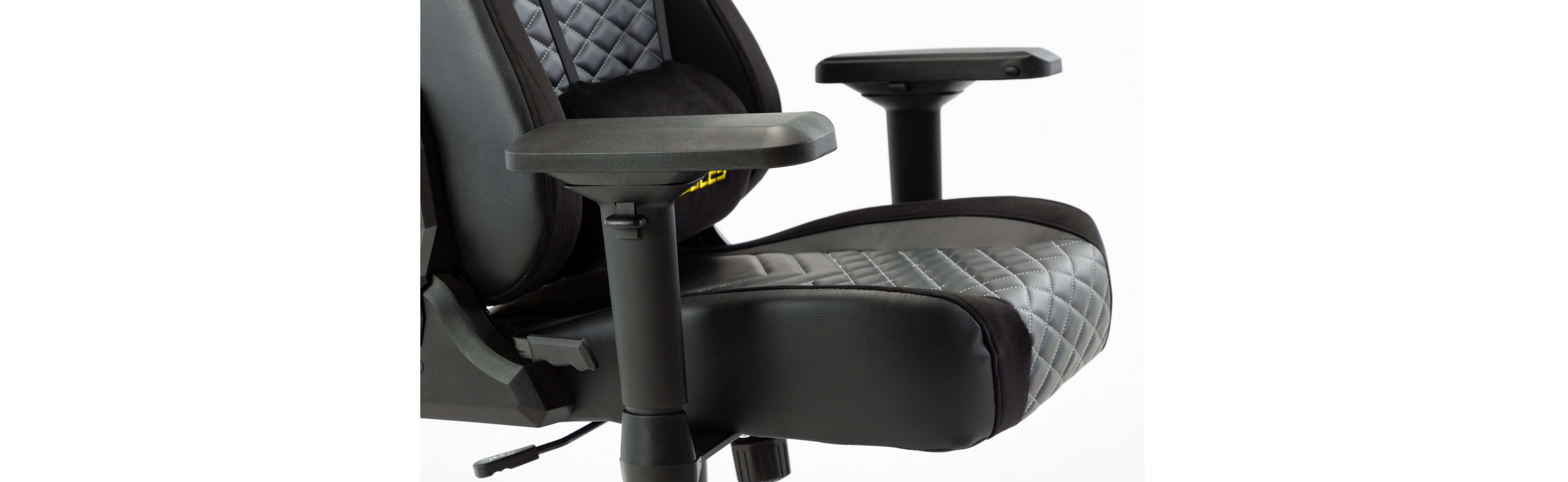 Ghế gamer E-Dra Hercules EGC203 Pro Black/Yellow có đệm siêu dày