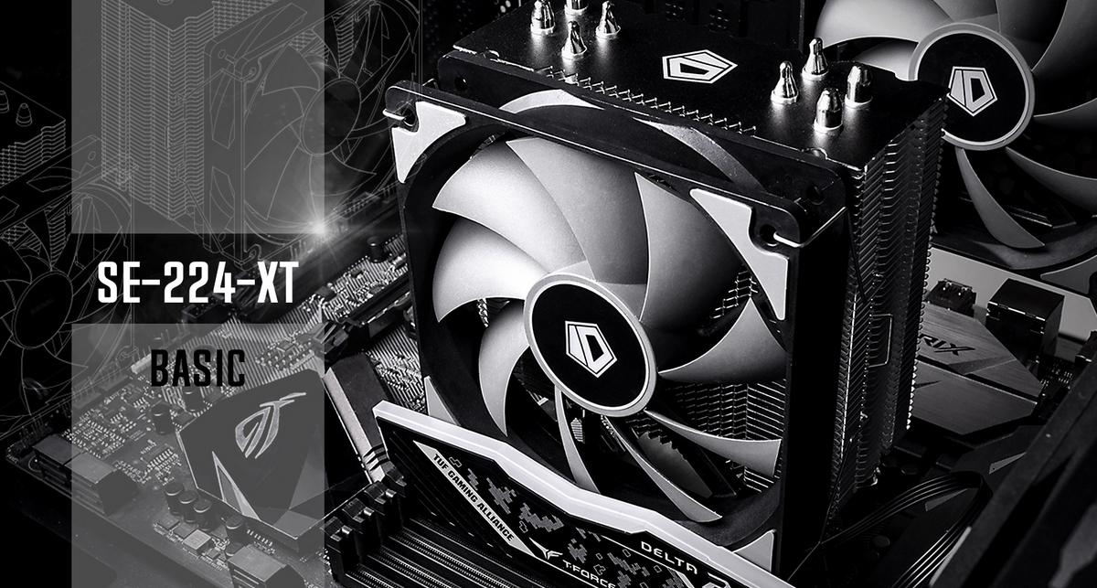 Tản nhiệt khí ID-Cooling CPU SE-224 XT Basic tạo nên ấn tượng mạnh mẽ