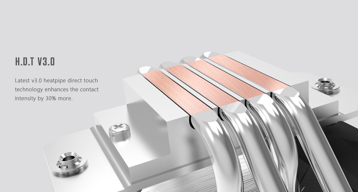 Tản nhiệt khí ID-Cooling CPU SE-224 XT Basic với công nghệ sử dụng ống dẫn nhiệt tiếp xúc trực tiếp, hạ nhiệt CPU nhanh chóng.