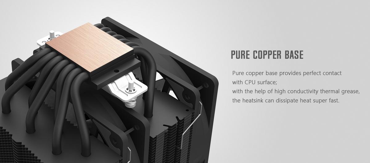 Tản nhiệt khí ID-Cooling CPU SE-207 Black hiệu suất cao cấp với 7 ống dẫn nhiệt