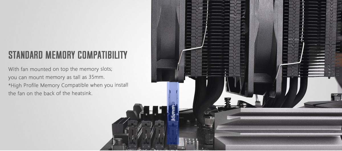 Tản nhiệt khí ID-Cooling CPU SE-207 Black với bề mặt tiếp xúc làm từ đồng tinh khiết