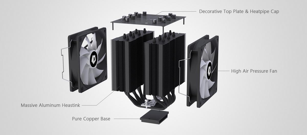 Tản nhiệt khí ID-Cooling CPU SE-207 Black hỗ trợ ram cao 35mm